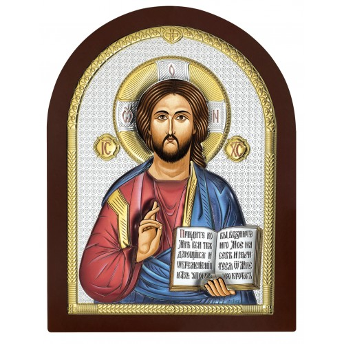 Obrazek srebrny Chrystus Pantokrator AE0803/4D