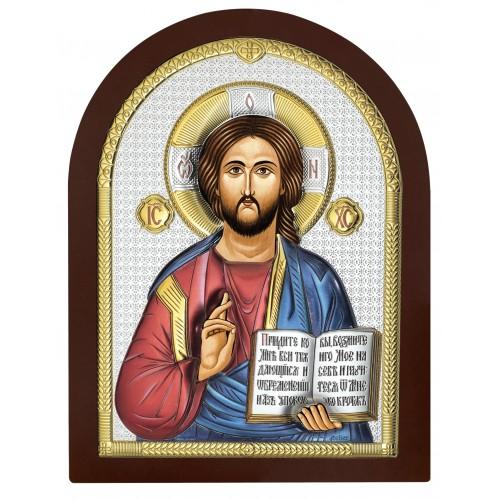 Obrazek srebrny Chrystus Pantokrator AE0803/5D