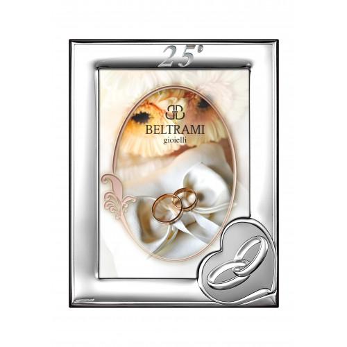 Ramka srebrna na zdjęcie 13x18 25-lecie Ślubu 1161n/254