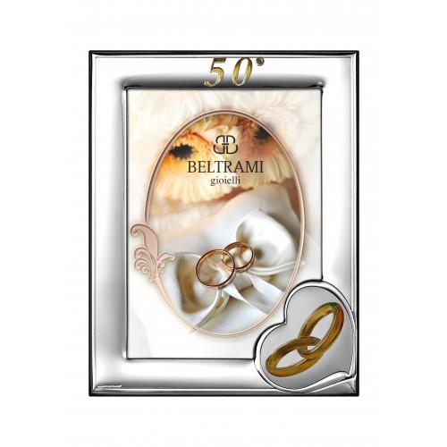 Ramka srebrna na zdjęcie 13x18 50-lecie Ślubu 1161n/504