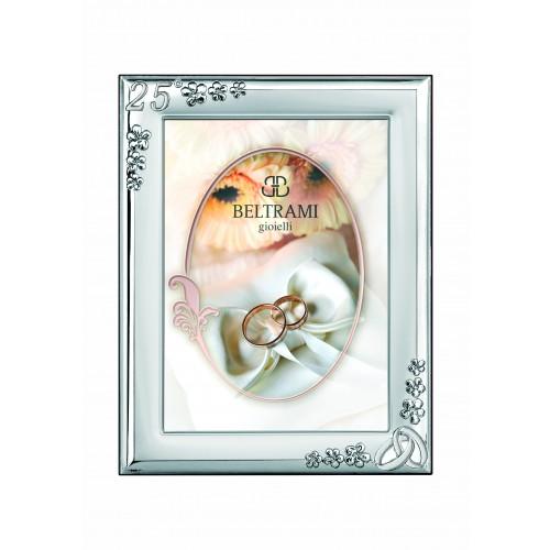 Ramka srebrna na zdjęcie 6x9 25-lecie Ślubu 1189/252