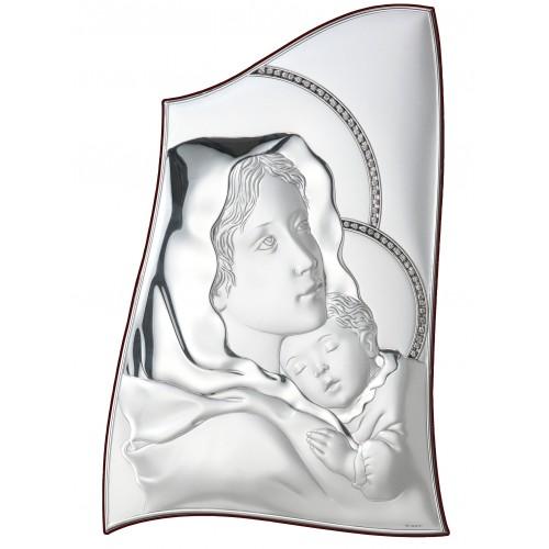 Obrazek srebrny Madonna z dzieciątkiem 18010/1