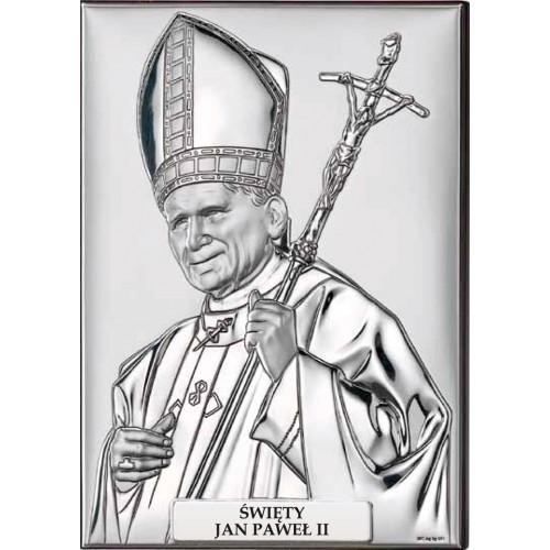Obrazek srebrny Papież Święty Jan Paweł II 18029 3PL