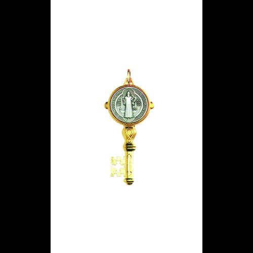 Wisiorek na rzemyku Klucz Benedyktyński 2411ARG