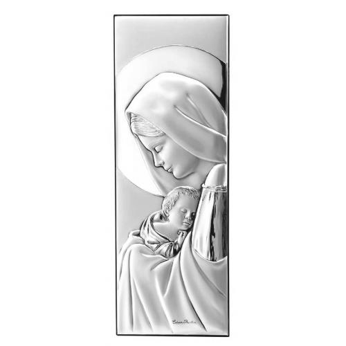 Obrazek srebrny Madonna z dzieciątkiem 30754