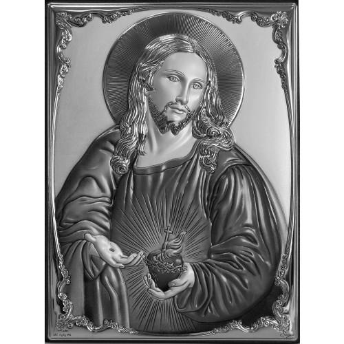 Obrazek srebrny Serce Jezusa 309811