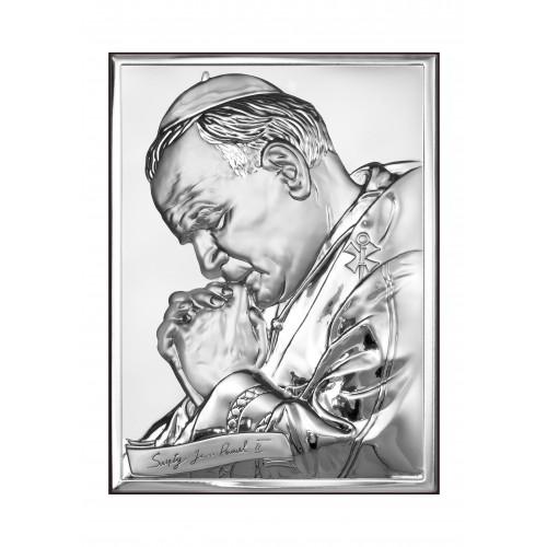 Obrazek srebrny  Święty Jan Paweł II 6287/2