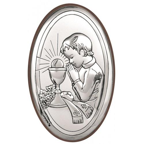 Obrazek srebrny Pamiątka Pierwszej Komunii Świętej 6317/2