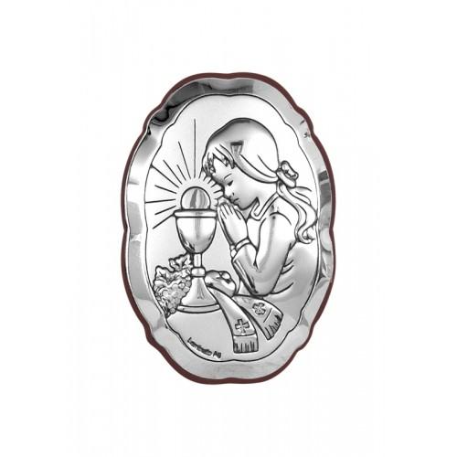 Obrazek srebrny Pamiątka Pierwszej Komunii Świętej 6318/4