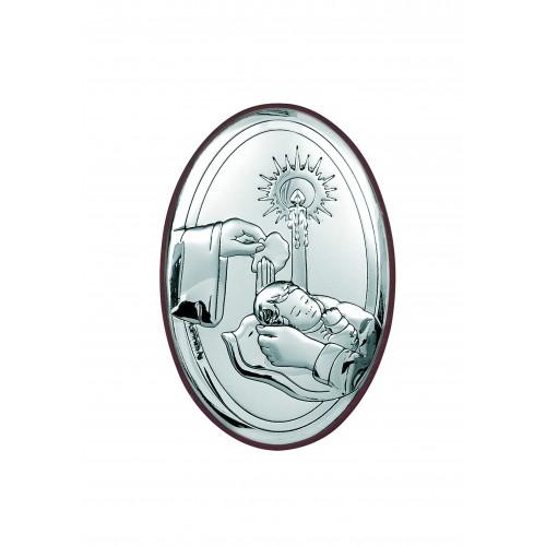 Obrazek srebrny Chrzest Świety 6318/2