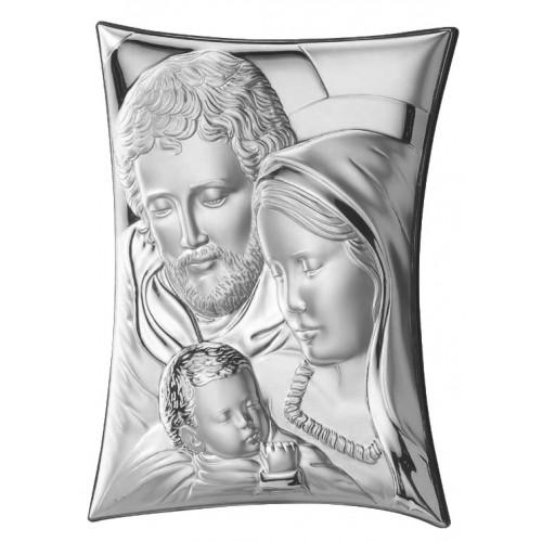 Obrazek srebrny Święta Rodzina 63199