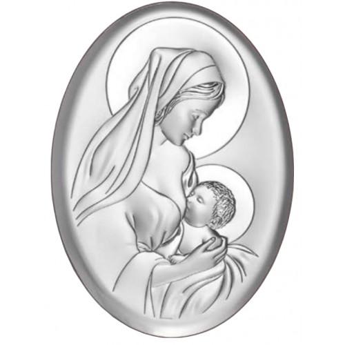Obrazek srebrny Matka Boska Karmiąca 6386/5X
