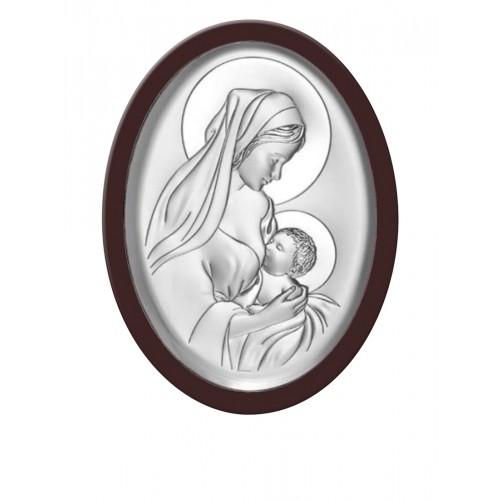 Obrazek srebrny Matka Boska Karmiąca 6386/5XWM