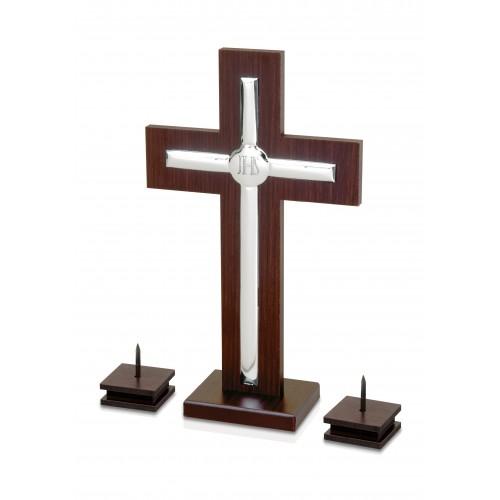Krzyż srebrny stojący 6409/SET