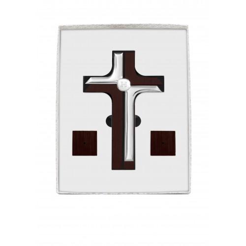 Krzyż srebrny stojący zestaw 6410/SET
