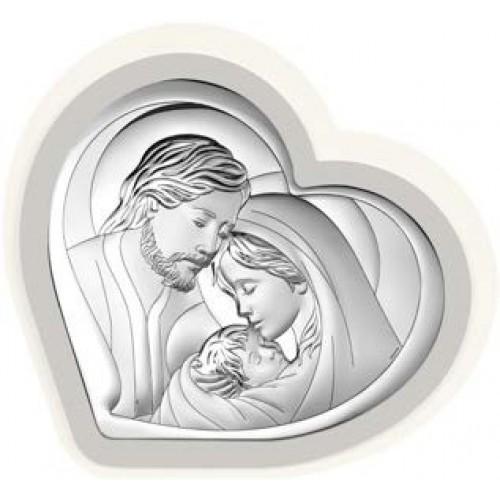 Obrazek srebrny Święta Rodzina 6432/3PG