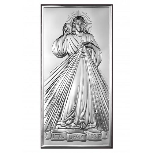 Obrazek srebrny Jezu Ufam Tobie 6443/2X