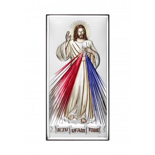 Obrazek srebrny Jezu Ufam Tobie 6443/2C