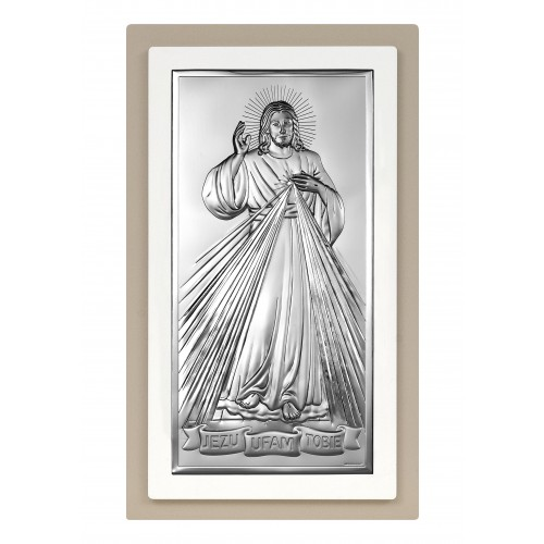 Obrazek srebrny Jezu Ufam Tobie 6443/2TP