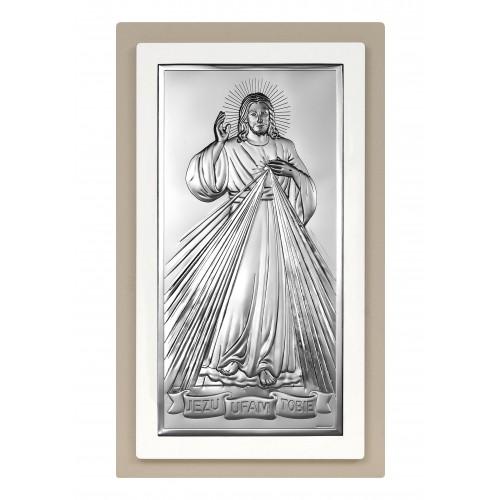 Obrazek srebrny Jezu Ufam Tobie 6443/3TP