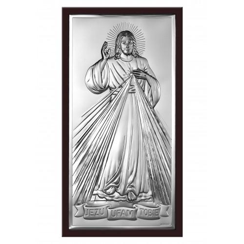 Obrazek srebrny Jezu Ufam Tobie 6443/2XWM