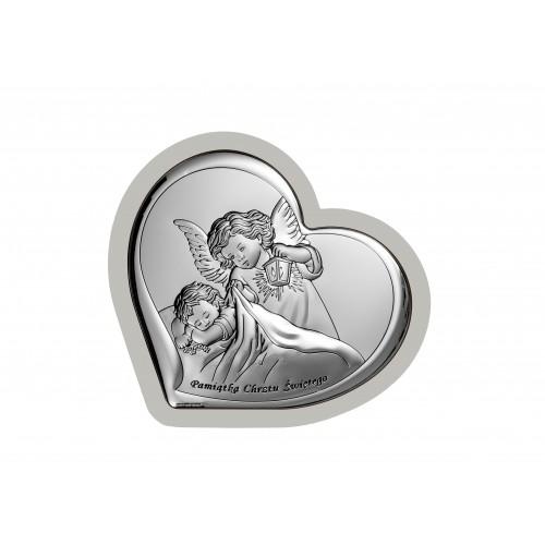 Obrazek srebrny Aniołek z latarenką 6449/2W