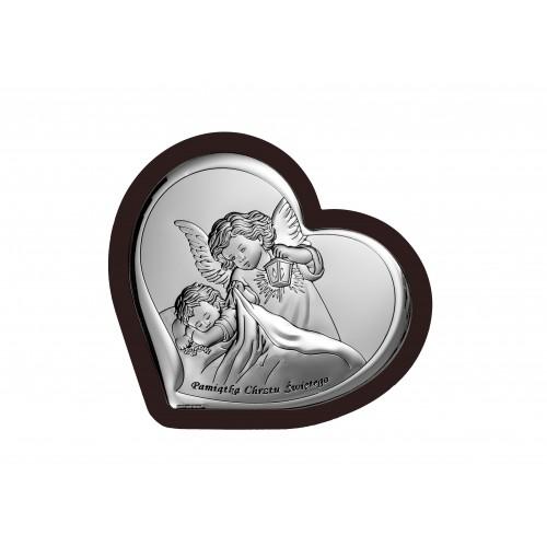 Obrazek srebrny Aniołek z latarenką 6449/2WM