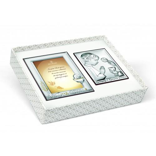 Zestaw Obrazków Srebrnych Pamiątka Pierwszej Komunii Świętej 6494/OSET