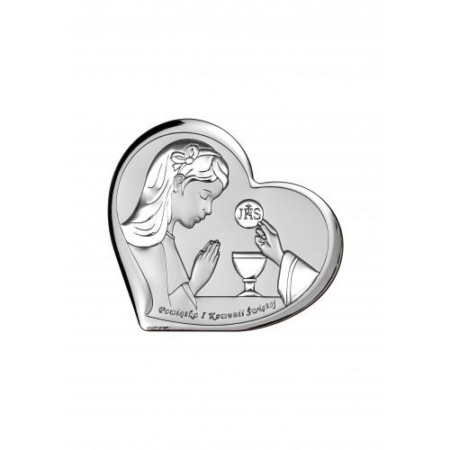 Obrazek srebrny Pamiątka Pierwszej Komunii Świętej 6517/3A