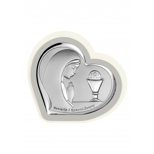 Obrazek srebrny Pamiątka Pierwszej Komunii Świętej 6518/3PGA