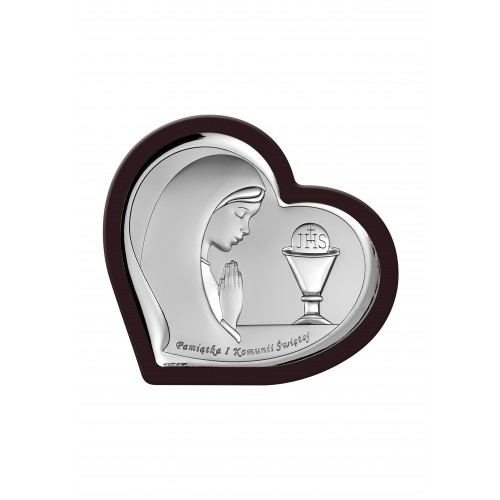 Obrazek srebrny Pamiątka Pierwszej Komunii Świętej 6518/2WMA