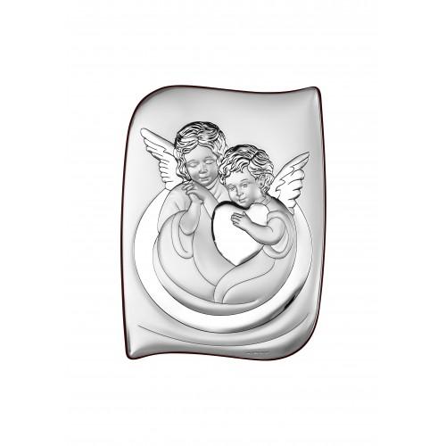 Obrazek srebrny Aniołki z sercem 6519/2