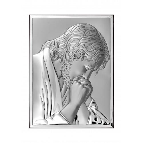 Obrazek srebrny Jezus Chrystus Modlący się 6522/2