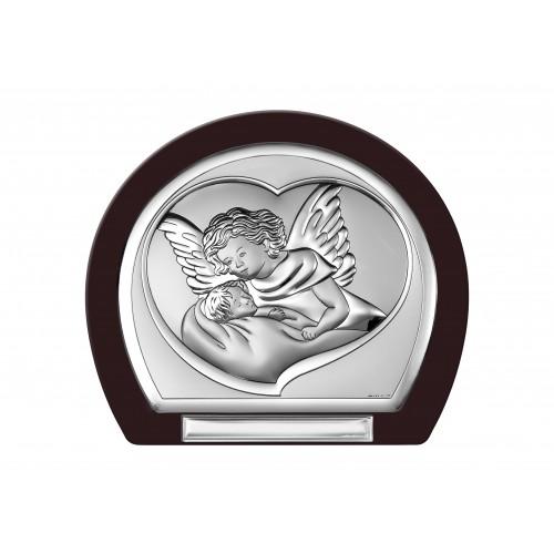Obrazek srebrny Aniołek nad dzieciątkiem 6525T/3WM