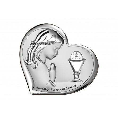 Obrazek srebrny Pamiątka Pierwszej Komunii Świętej 6528/2A