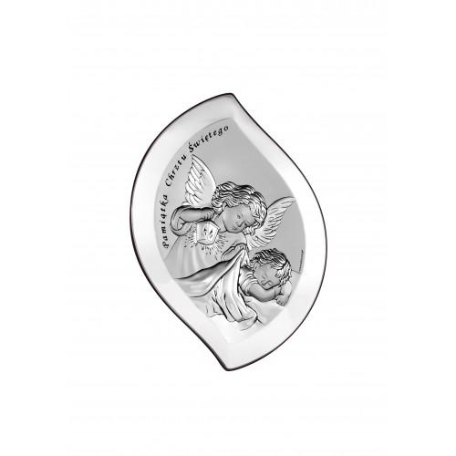 Obrazek srebrny Aniołek nad dzieciątkiem z latarenką 6533S/2X