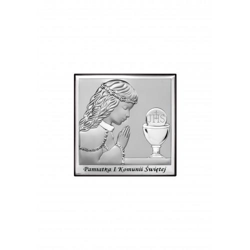 Obrazek srebrny Pamiątka Pierwszej Komunii Świętej 6568/2A
