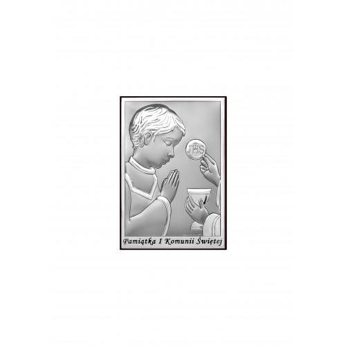Obrazek srebrny Pamiątka Pierwszej Komunii Świętej 6570/2OX