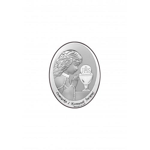 Obrazek srebrny Pamiątka Pierwszej Komunii Świętej 6571/2XA
