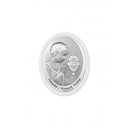 Obrazek srebrny Pamiątka Pierwszej Komunii Świętej 6571/2XWO