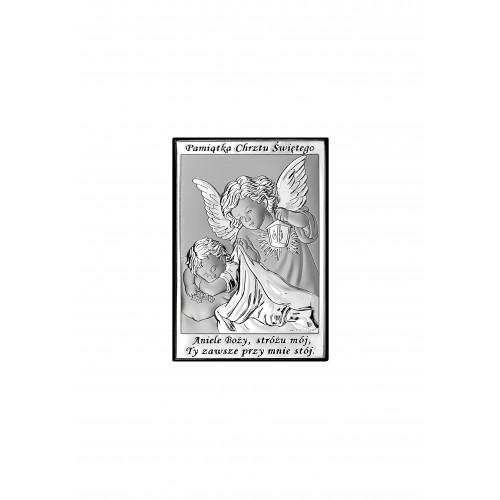 Obrazek srebrny Pamiątka Chrztu Świętego 6572/3
