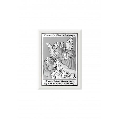 Obrazek srebrny Pamiątka Chrztu Świętego 6572/3W