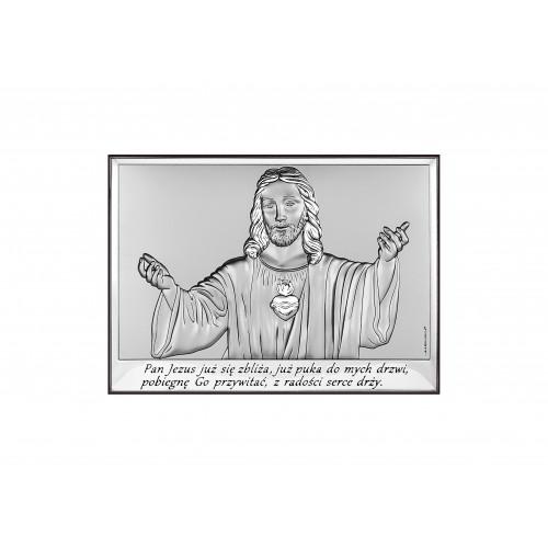 Obrazek srebrny z wizerunkiem Jezusa-Pamiątka Pierwszej Komunii Świętej 6621/2