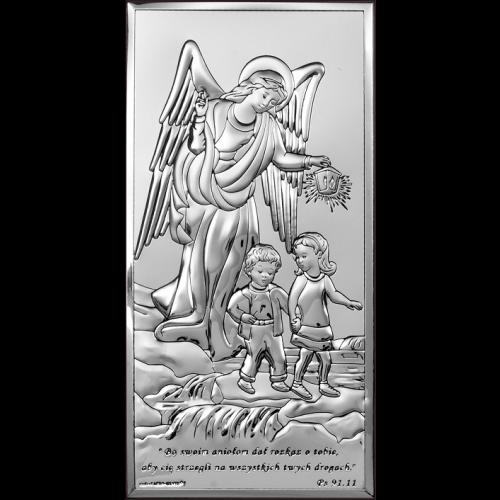 Obrazek srebrny Aniołek z latarenką 6507S/2X