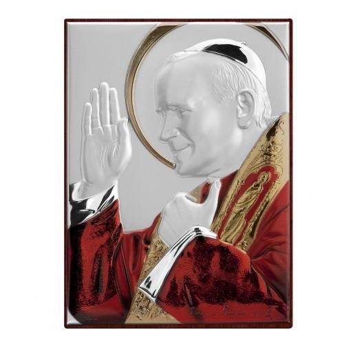 Obrazek srebrny Święty Jan Paweł II 7151D