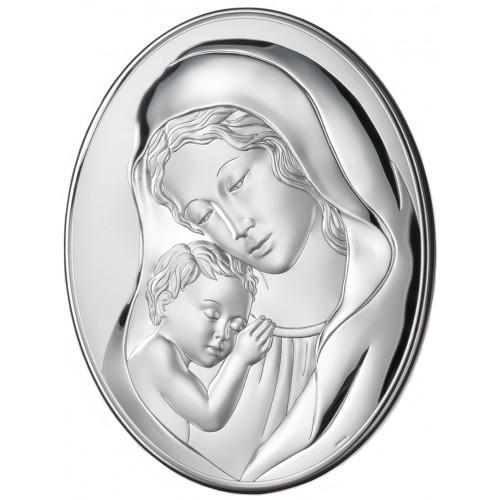 Obrazek srebrny Madonna z dzieciątkiem 81241/4