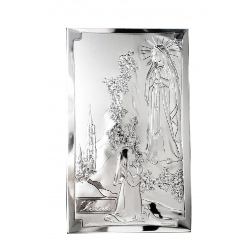 Obrazek srebrny Matka Boża Z Lourdes 81246/3