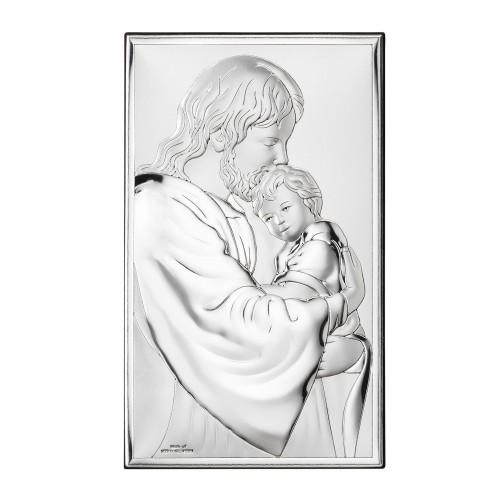 Obrazek srebrny Jezus Chrystus z Dzieciątkiem 81286/4XL