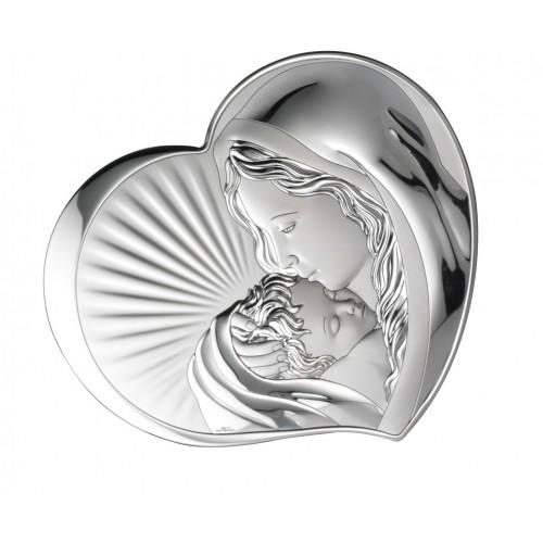 Obrazek srebrny Madonna z dzieciątkiem 81295/2