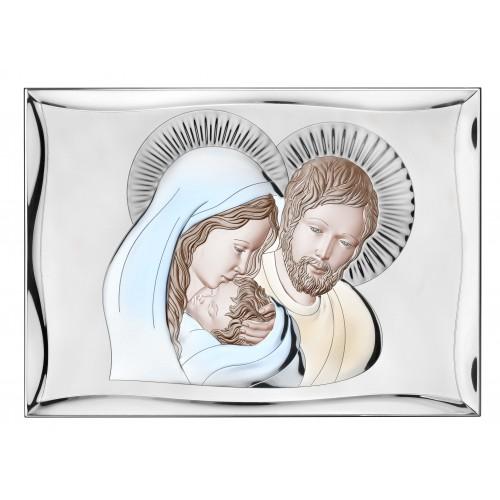 Obrazek srebrny Święta Rodzina 81301/6COL